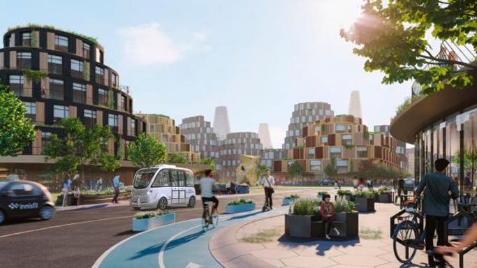 """""""The Orbit"""" la ciudad verde del futuro propuesta por Partisans, para la ciudad de Innusfil, Canadá (2020)"""